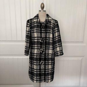 BB Dakota Black/White Plaid Coat